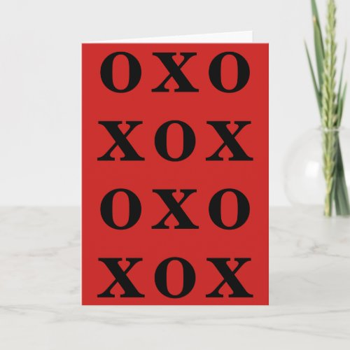 XOXO VALENTINES DAY CARD