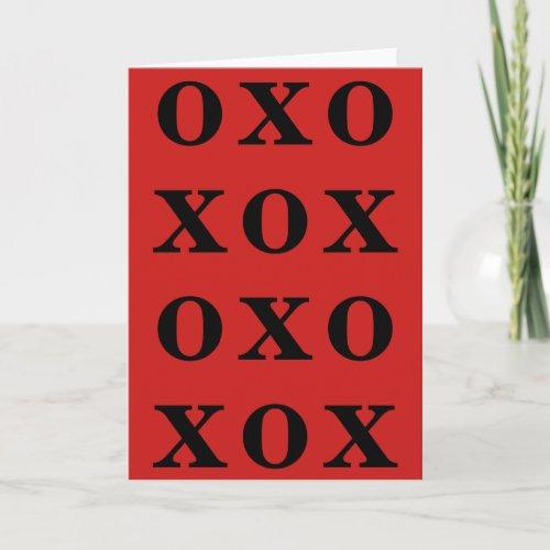 XOXO VALENTINES DAY CARD