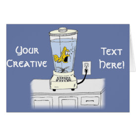Ya Betcha I'm Stressed! (Fish in a Blender) Card