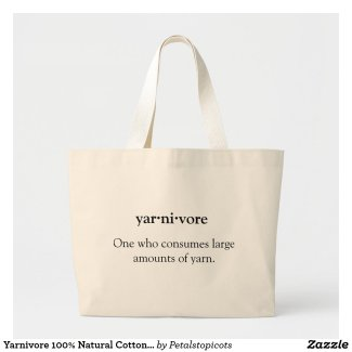 Yarnivore Tote Bag - 100% Cotton Jumbo Yarn Tote Bag