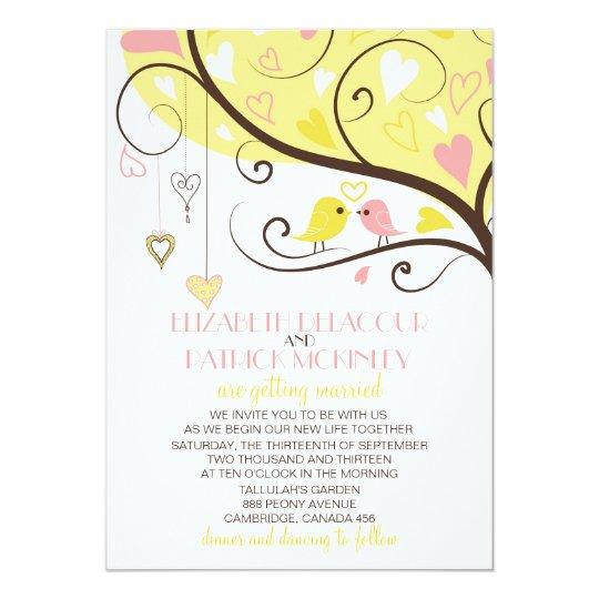 Love Birds On A Cross Wedding Invitation 2