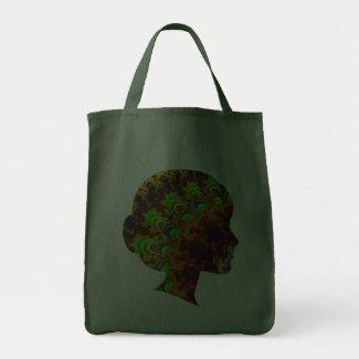 Yellow/Blk Fractal Art Twirls Bags