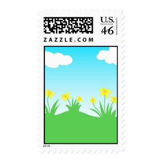 Yellow daffodils - Postage stamp
