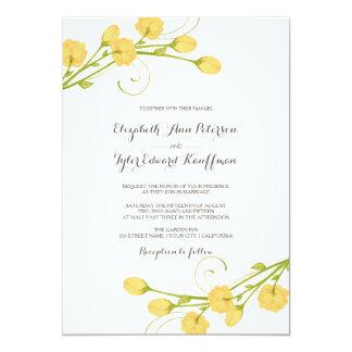 Yellow Garden Roses Wedding Invitation