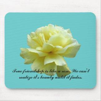 Yellow Rose Blossom Mousepad mousepad
