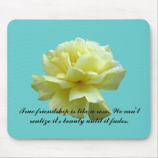 Yellow Rose Blossom Mousepad mousepad