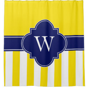 navy and yellow shower curtains zazzle