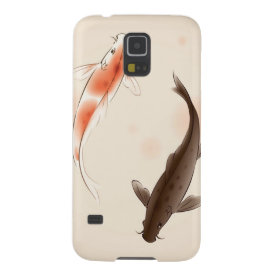 Yin Yang Koi fishes in oriental style painting Galaxy S5 Case