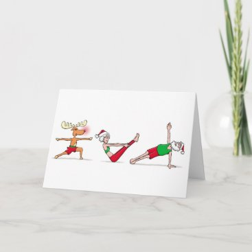 Yoga Christmas Card
