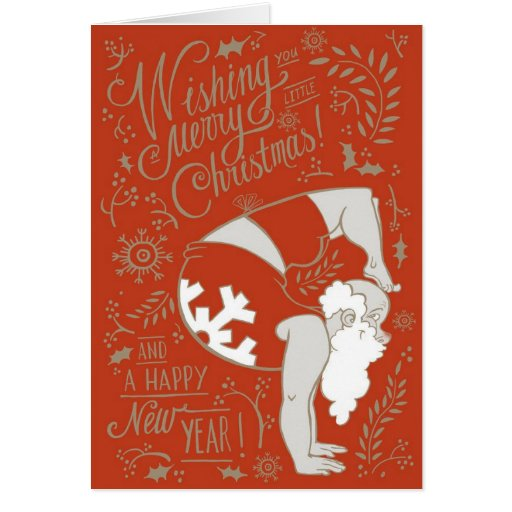 Yoga Santa Christmas Greeting Card Zazzle