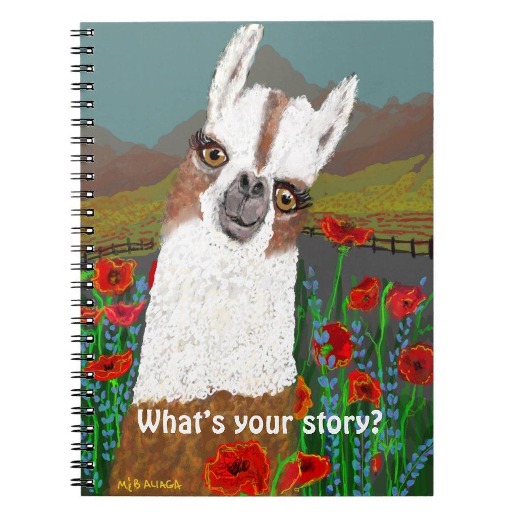 Yoir MamaLlama in the Poppy Field Notebook