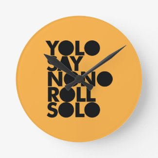 YOLO Roll Solo Filled Wall Clocks