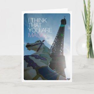 You are magic love friendship card