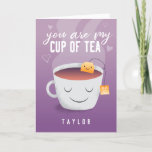 ❤️ You Are My Cup Of Tea Funny Valentines Day Holiday Card