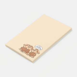 Your Girlfriend Looks Like Mom Funny Monkey Post-it Notes