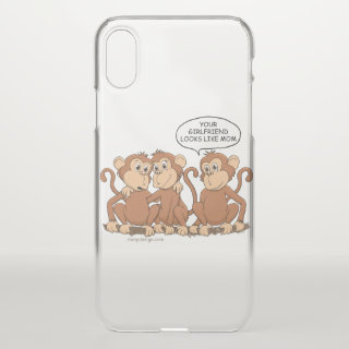 Your Girlfriend Looks Like Mom Funny Monkey iPhone X Case