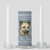 Your Love Unconditional Pet Sympathy Custom Unity Candle Set