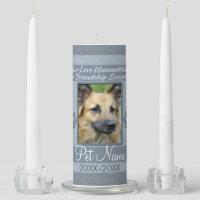 Your Love Unconditional Pet Sympathy Custom Unity Candle Set