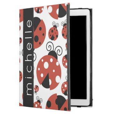 """Your Name - Ladybugs, Ladybirds - Red Black iPad Pro 12.9"""" Case"""