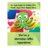 You're a Monster-iffic Valentine Postcard