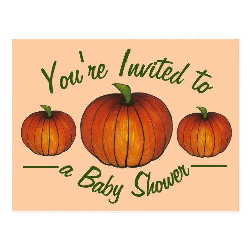 You're Invited Baby Shower Little Pumpkin Postcard