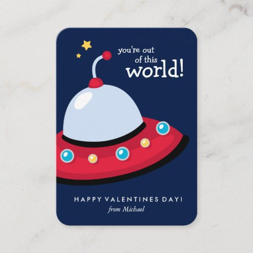 You're Out of This World Valentine Note Card