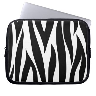 Zebra animal stripes pattern laptop sleeves