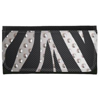 Zebra Metal Texture Wallets