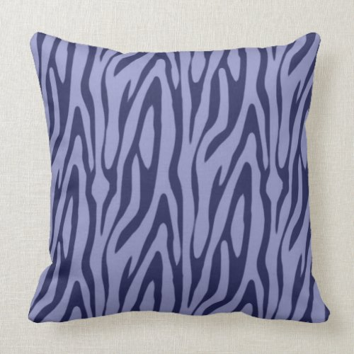 Zebra Purple Black Throw Pillow