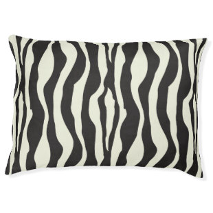 Zebra stripes pattern large dog bed