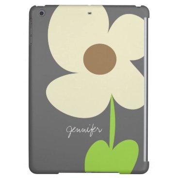 Zen Daisy Personalized iPad Air Case