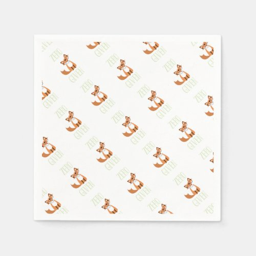 Zero Fox Given Funny Animal Fox Paper Napkin