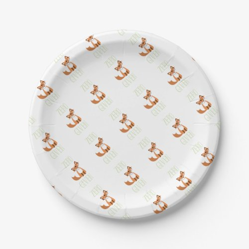 Zero Fox Given Funny Animal Fox Paper Plate