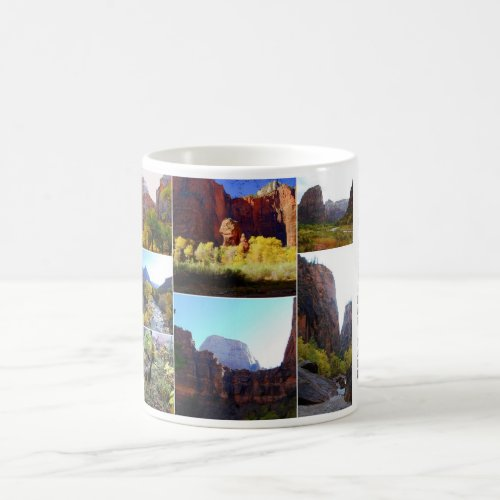 Zion National Park Collage Coffee Mug