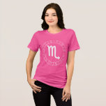 Zodiac Scorpio Symbol Circle T-Shirt