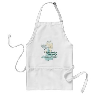 Zodiac Sign Aquarius Symbol Aprons