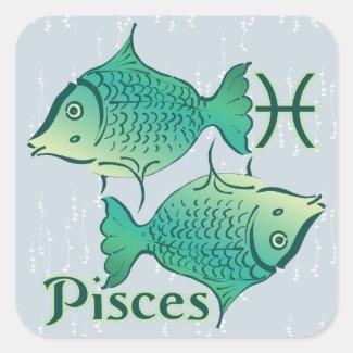 Zodiac Sign Pisces Symbol Sticker