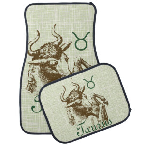 Zodiac Sign Taurus Symbol Car Mat