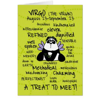 zodiac word cards - virgo