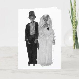 Zombie Wedding card