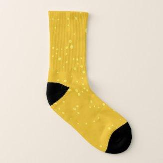 Fröhlich sonniges Punkte - Muster Socken