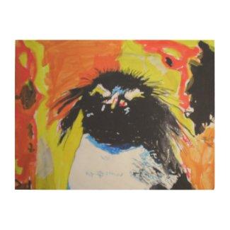Pop Art Penguin Holzleinwände