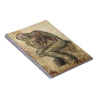 El pensador anatómico spiral notebook