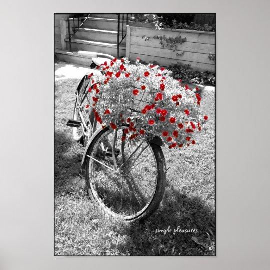 affiche vintage en noir et blanc d une bicyclette