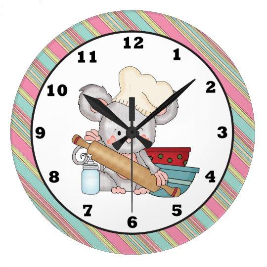 Horloge Murale De Cuisine De Bande Dessine De Sou Zazzlefr