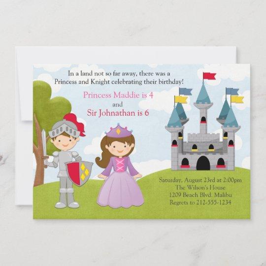 invitation parti conjoint de la princesse et du chevalier