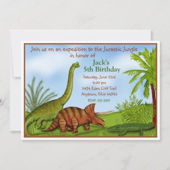 invitations d anniversaire de dinosaur