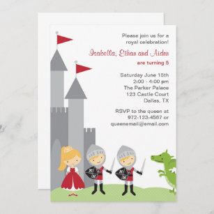 https www zazzle fr anniversaire chevalier princesse cartes invitations
