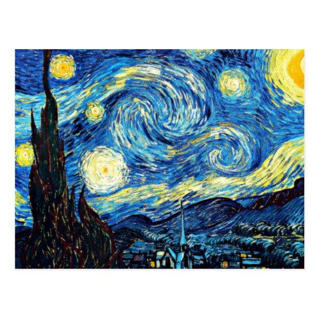 La Peinture Clbre De Van Gogh Nuit Toile Cartes