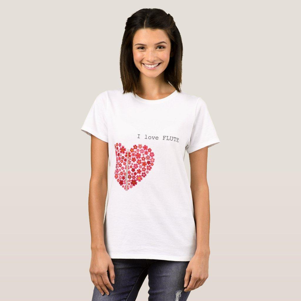 I love FLUTE T-shirts フルートTシャツ